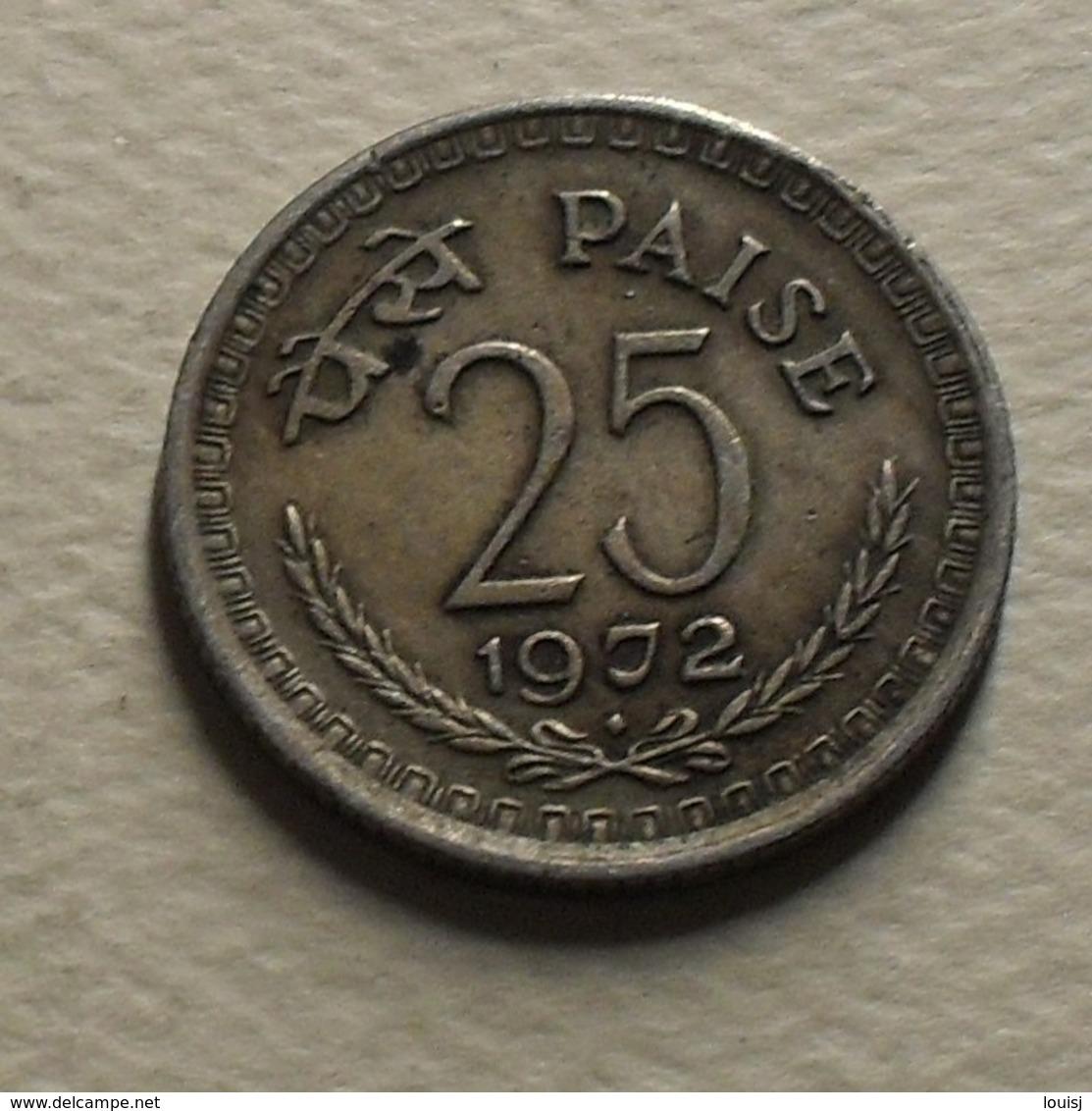 1972 - Inde République - India Republic - 25 PAISE, B, KM 49.1 - Indien