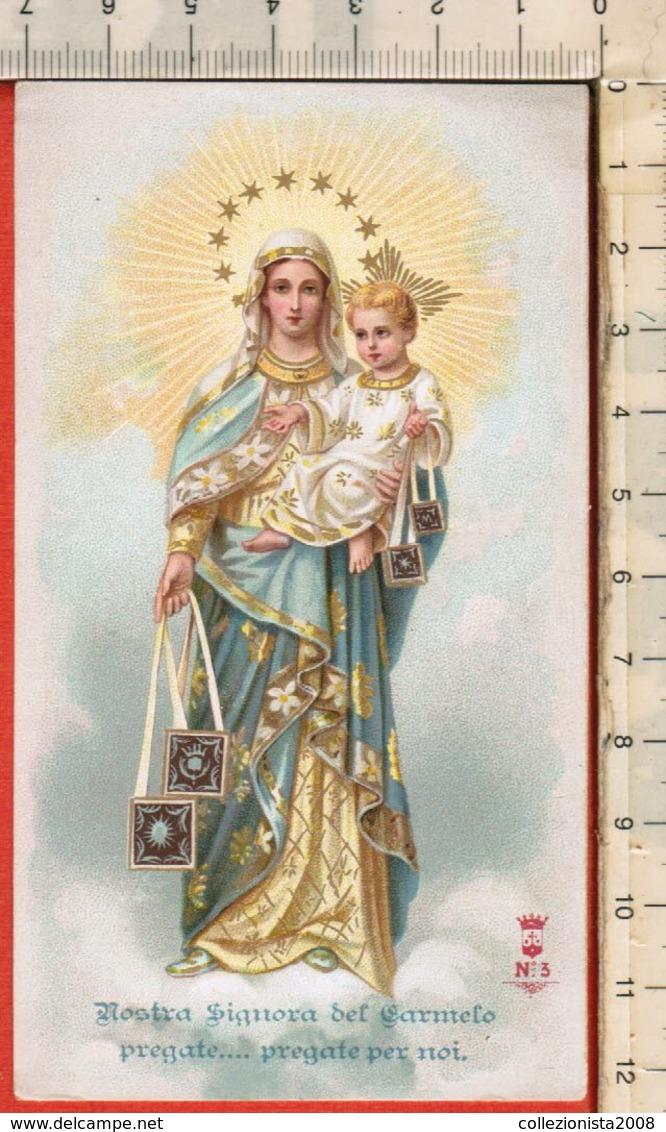 "Antico Santino Lega Eucaristica ""N.S. Del CARMELO-n.3"" Carmelitani Scalzi Milano - Religion & Esotericism"