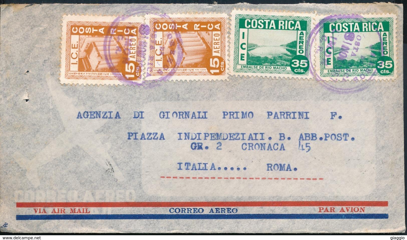 °°° POSTAL HISTORY COSTA RICA - 1967 °°° - Costa Rica