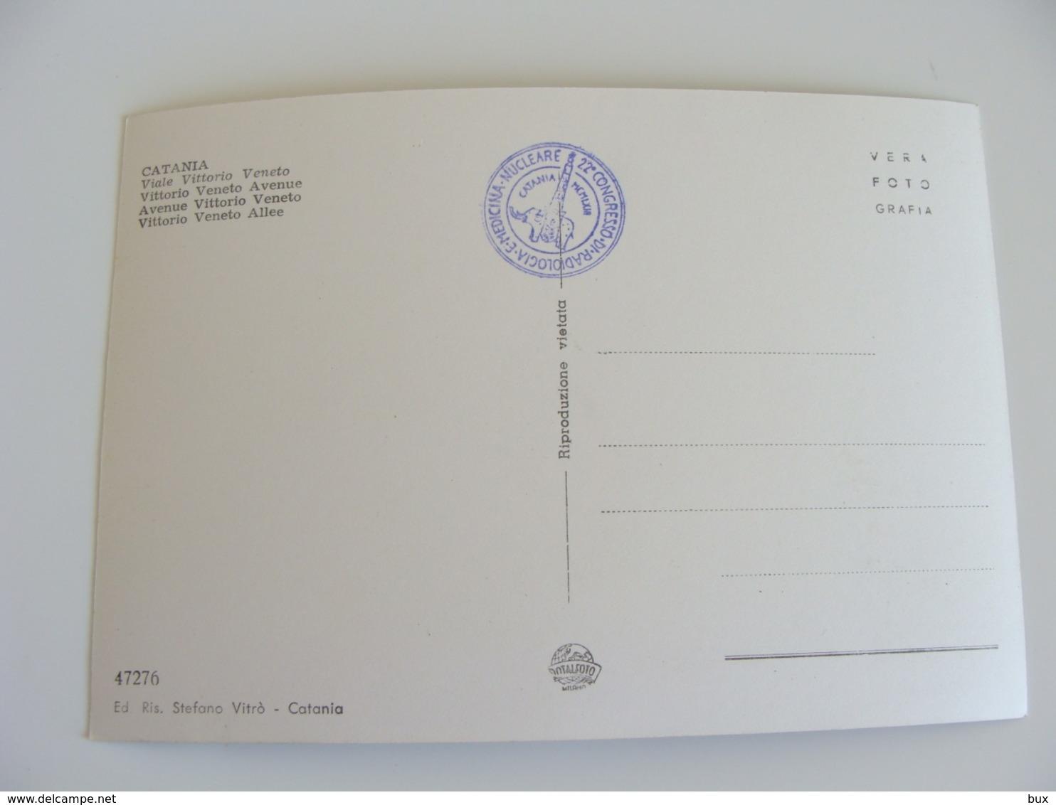 1963  CATANIA   CONGRESSO  RADIOLOGIA MEDICINA NUCLEARE   SALUTE MEDICINA  NON VIAGGIATA - Salute