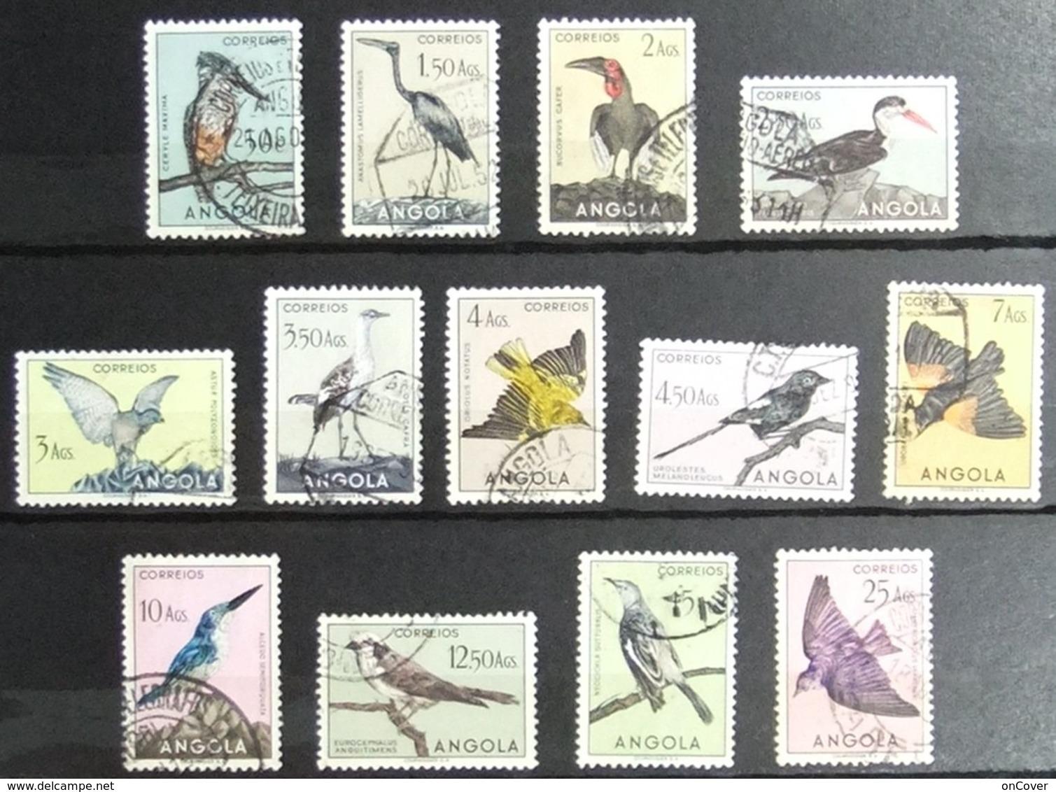 Angola - Lot Of Fine Postally Used Birds 1950's - Angola