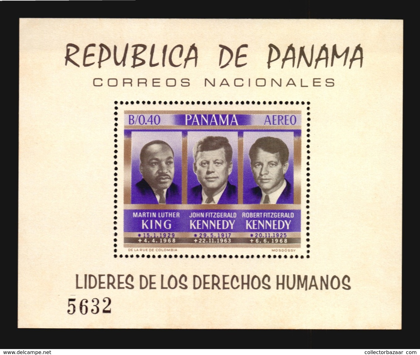 Panama MNH #C363a S/s Human Rights Year Martin Luther King & JFK Kennedy Cv$30 (A_4284) - Martin Luther King