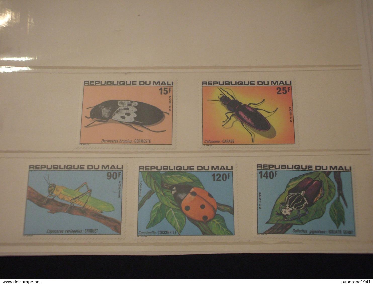 MALI - 1978 INSETTI 5 VALORI -  NUOVI(++) - Mali (1959-...)