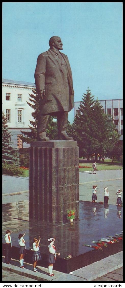 UKRAINE (USSR, 1986). KHMELNYTSKY. MONUMENT TO VLADIMIR LENIN. Unused Postcard - Monuments