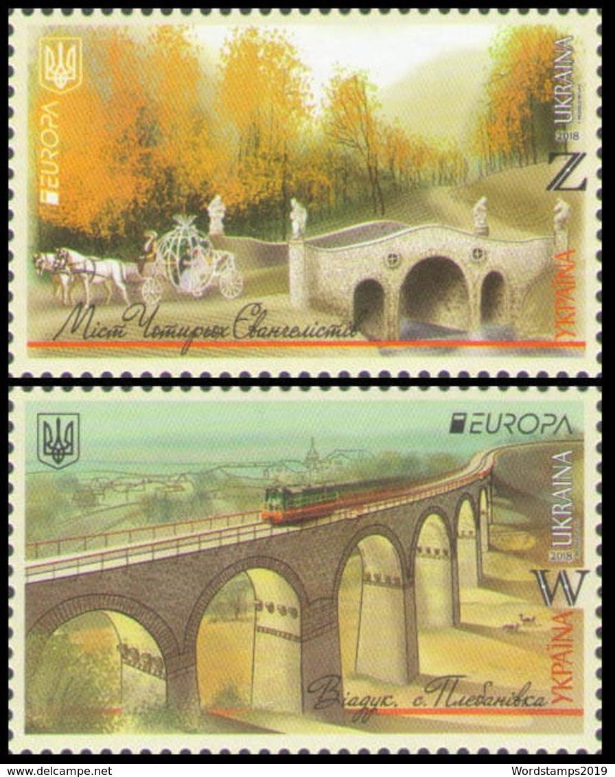 2018Ukraine 1689-90Europe CEPT / Bridges14,00 € - 2018