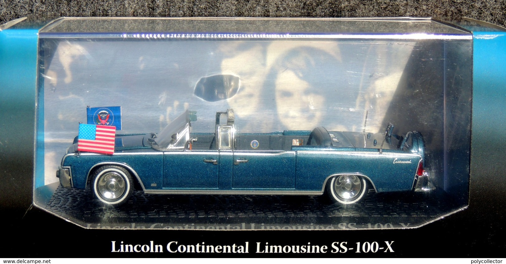 LINCOLN Continental SS-100-X KENNEDY 1963 1/43 - NEUF Boîte Plastique & Carton - Voitures, Camions, Bus