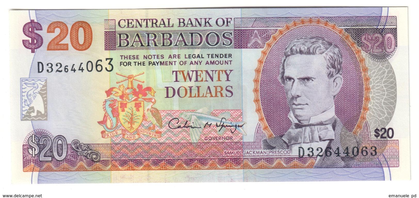 BARBADOS20DOLLAR1997P50UNC.CV. - Barbades