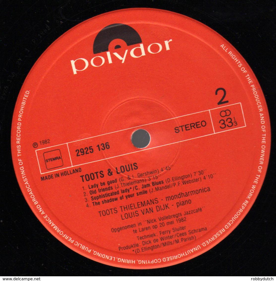 * LP *  TOOTS & LOUIS - TOOTS THIELEMANS & LOUIS VAN DIJK (Holland 1982 EX!!!) - Jazz