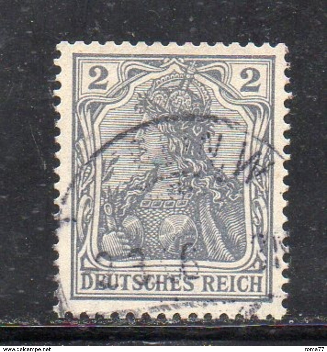 GERMANIA IMPERO 1905 , 2 Pf N. 81 Usato   . DEUTSCHES - Usati