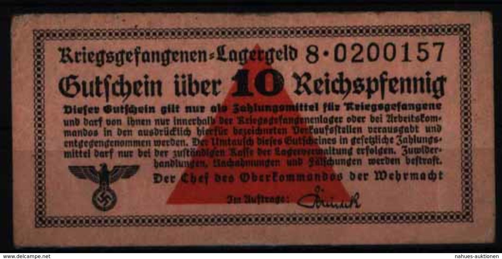 Geldschein Banknote Lagergeld Kriegsgefangenenlagergeld 516 S 8 II-III.Wehrmacht - 1933-1945: Drittes Reich