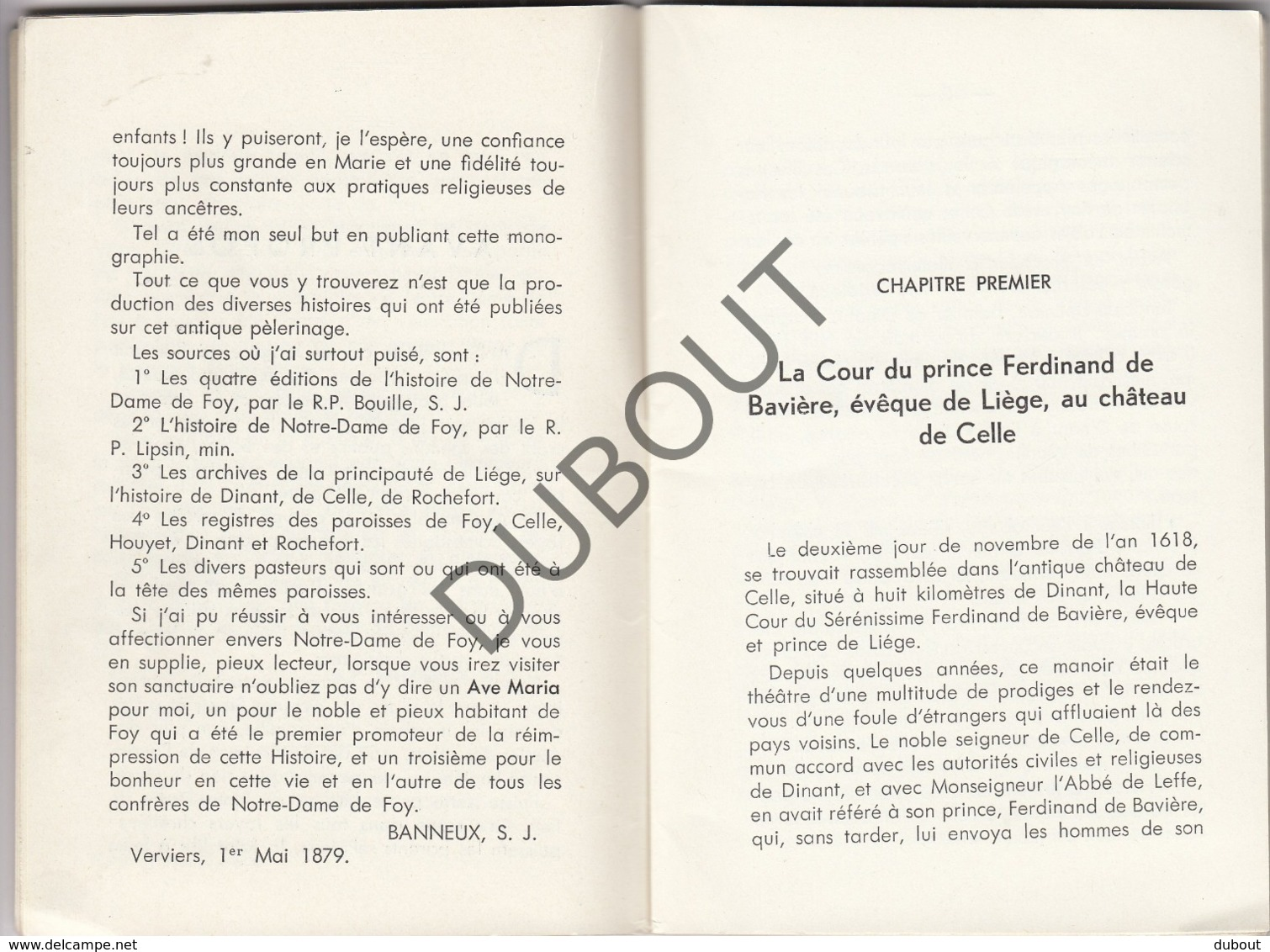 FOY - Histoire De Notre Dame De Foy  (R357) - Boeken, Tijdschriften, Stripverhalen