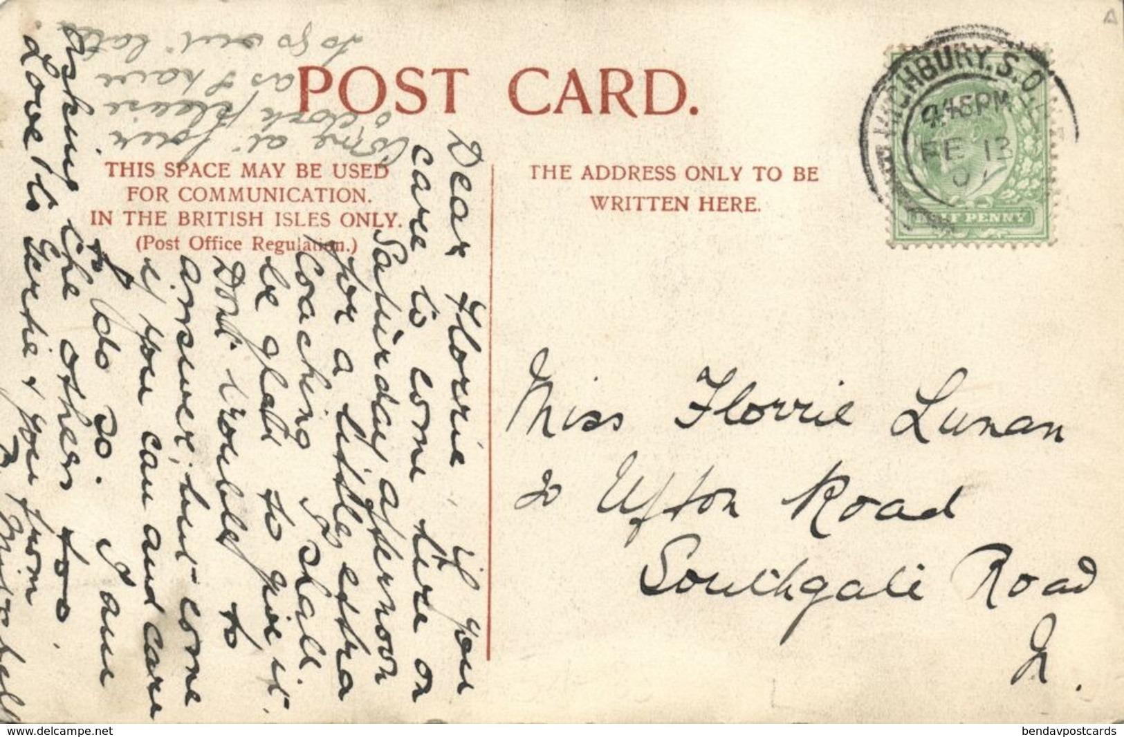 China, AMOY XIAMEN, W.K.A. School, Girls Sewing (1907) Postcard - China