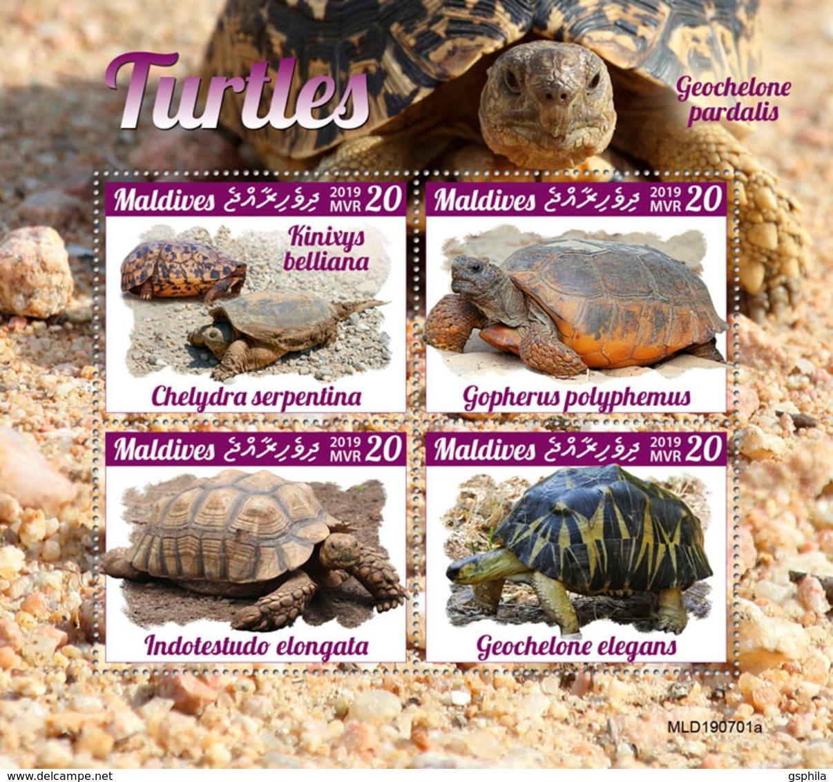 Maldives 2019 Turtles Fauna Turtle S/S MLD190701 - Non Classificati