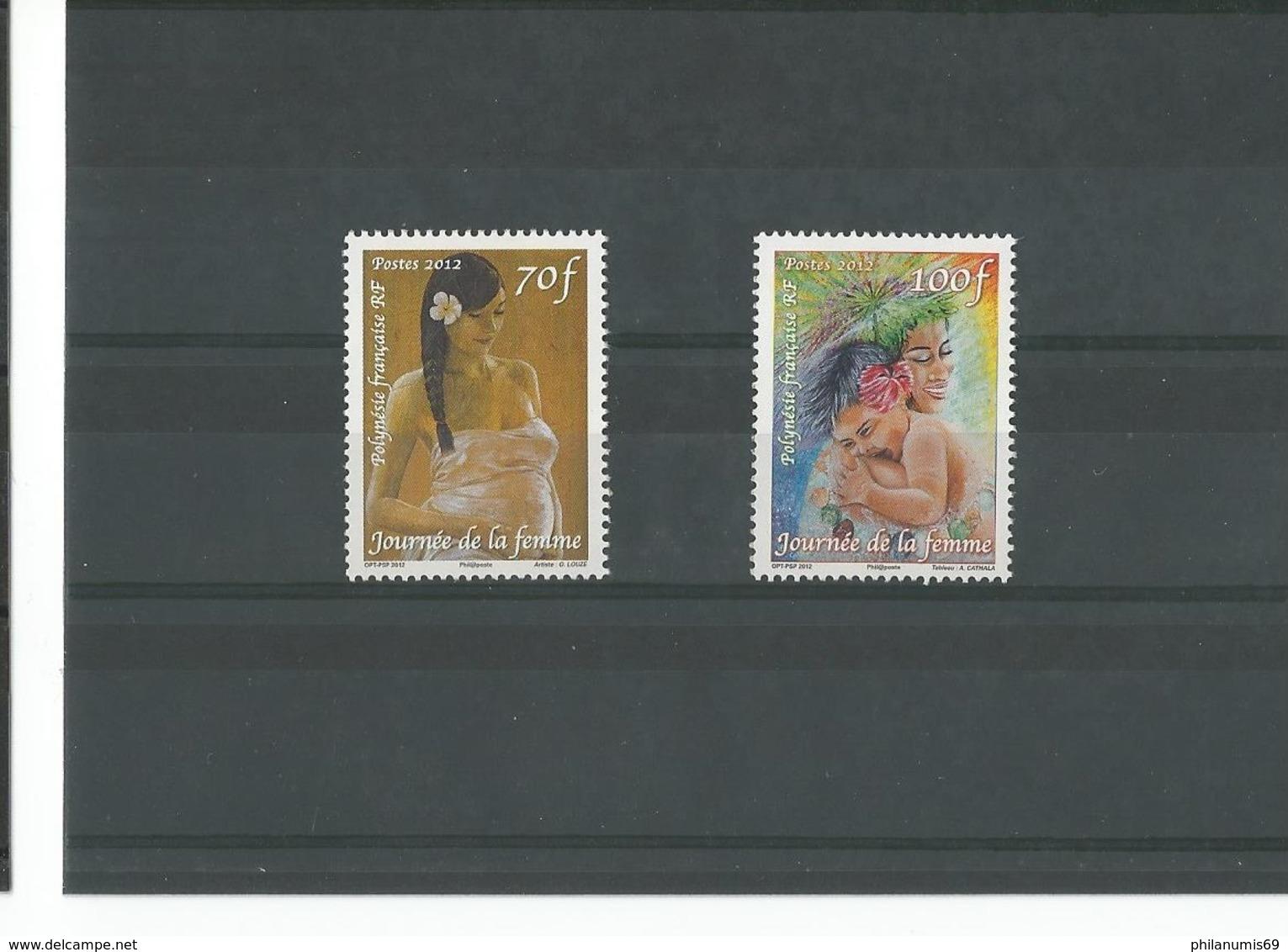 POLYNESIE 2012 - YT 982/983 - NEUF SANS CHARNIERE ** (MNH) GOMME D'ORIGINE LUXE - Polynésie Française