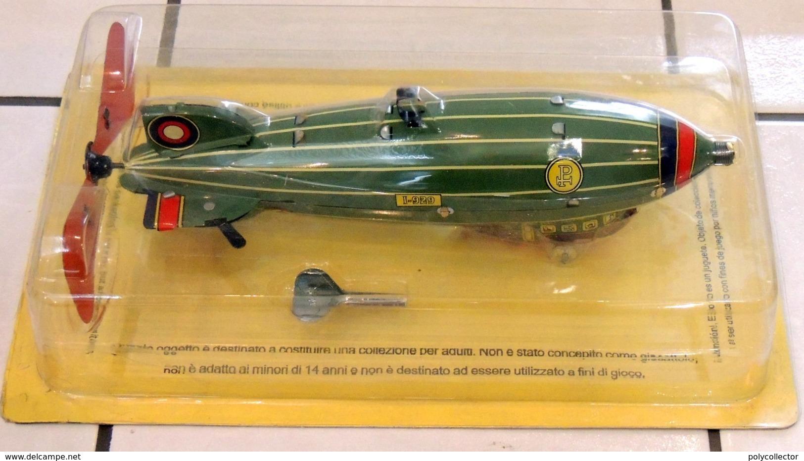 Réédition FER BLANC Ballon Dirigeable 1920 Mécanique - NEUF Sous Blister - Avions & Hélicoptères