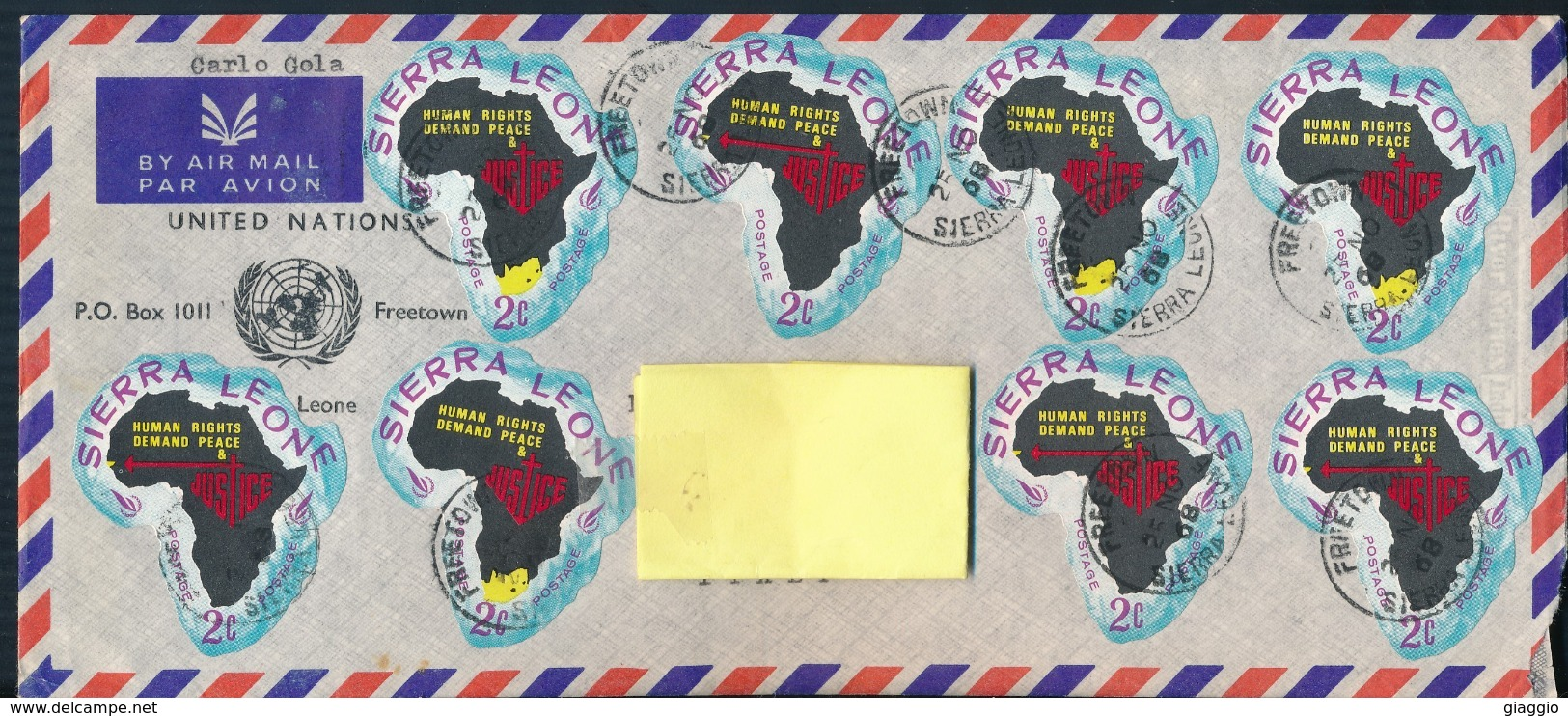 °°° POSTAL HISTORY SIERRA LEONE - 1968 °°° - Sierra Leone (1961-...)