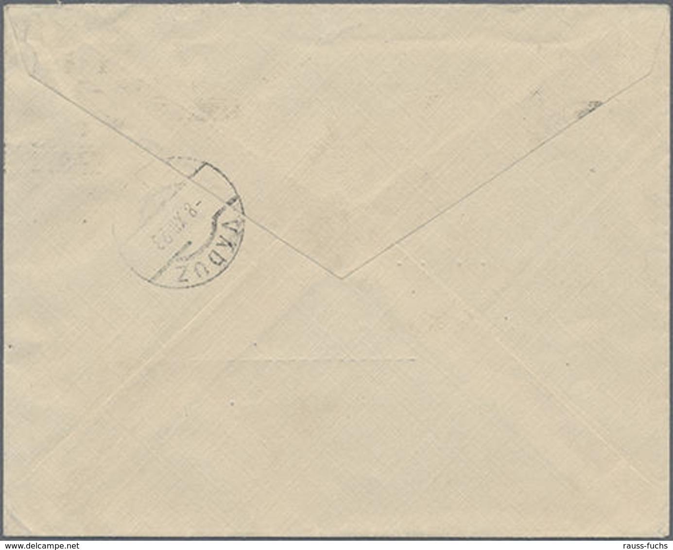 1923, Schweizer Portomarken In FL Verwendet, 25 Rp. Ziffer Auf Unterfrankiertem Brief Aus Spanien Nach Vaduz, Mi. 95.- - Liechtenstein