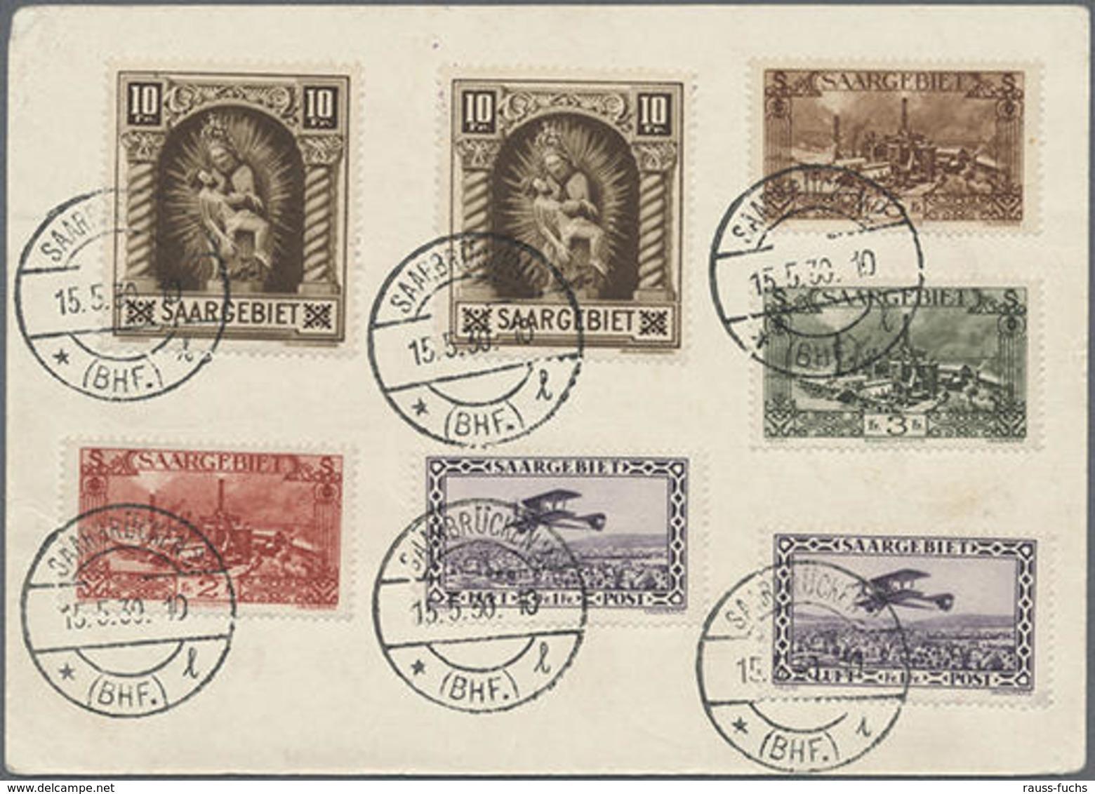 1930, Saar,Südamerikafahrt Rundfahrt Auf 90 C.Saar-Ganzsache Mit ZuF (teils Rs.)ab Saarbrücken, Lt. FKB Geigle Echt,Mark - Unclassified