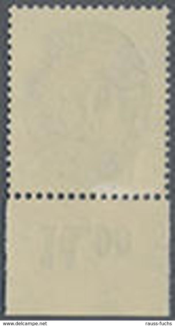 1927, 20 Pf. Strohutmuster Mit Wz.2 Liegend, Postfrisches Oberrandstück, Mi.300.- - Alemania