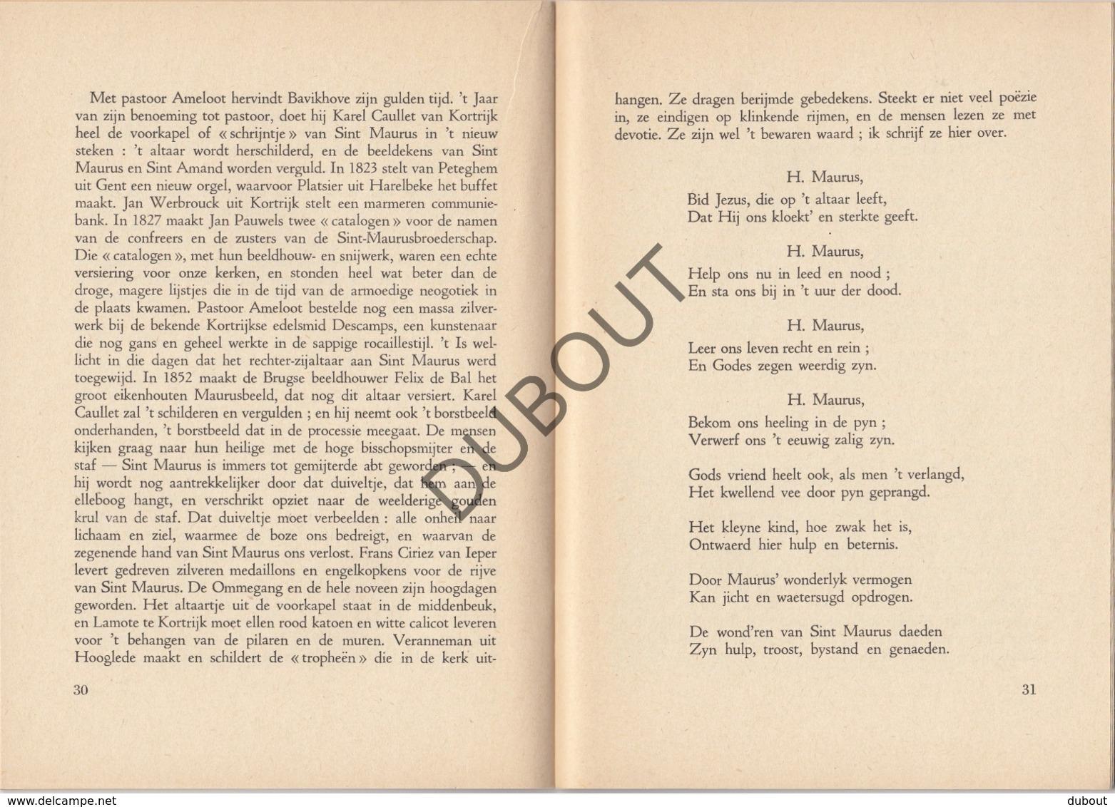 BAVIKHOVE Sint Maurus 1954  (R341) - Boeken, Tijdschriften, Stripverhalen