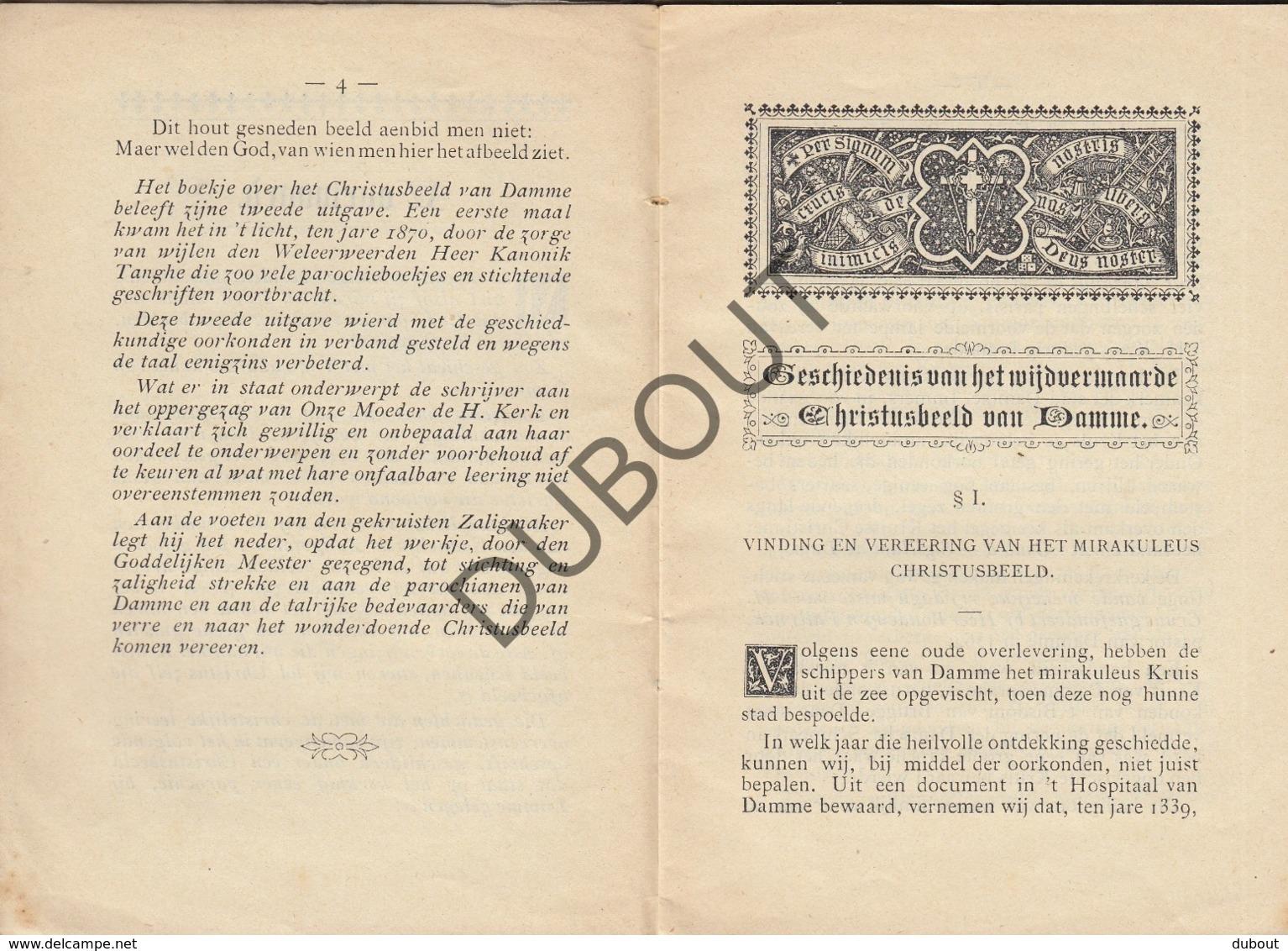 BRUGGE/DAMME Geschiedenis Christusbeeld Damme - Tanghe - Van De Vyvere-Petyt 1901  (R347) - Oud