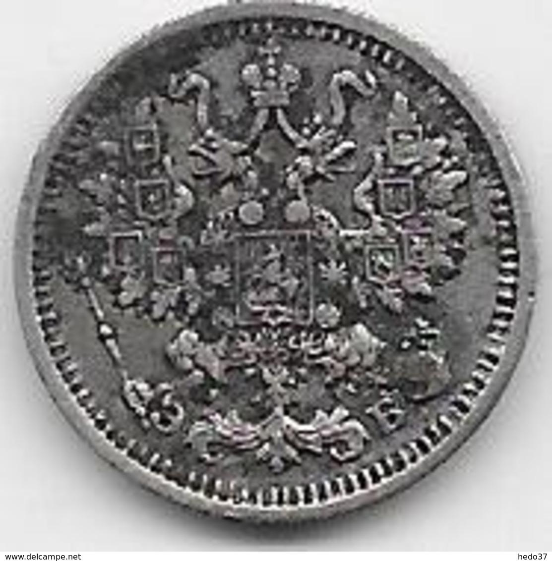 Russie - 5 Kopeks 1911 - Argent - Rusland
