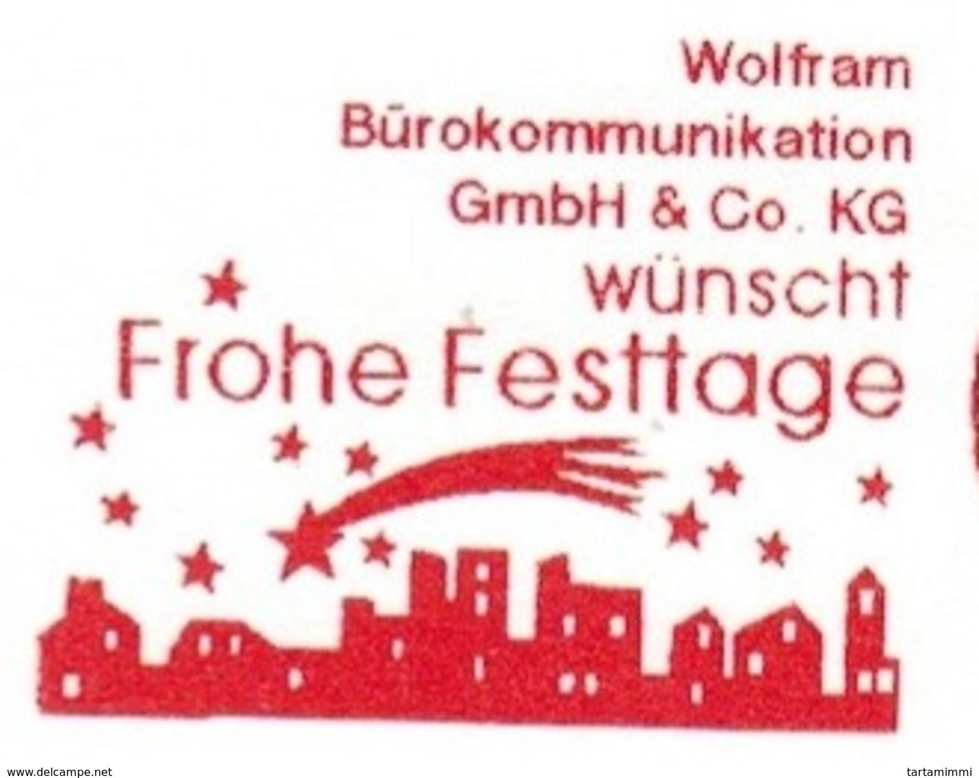 EMA FREISTEMPEL METER Joyeux Noel Season Greetings Christmas GERMANY - Noël