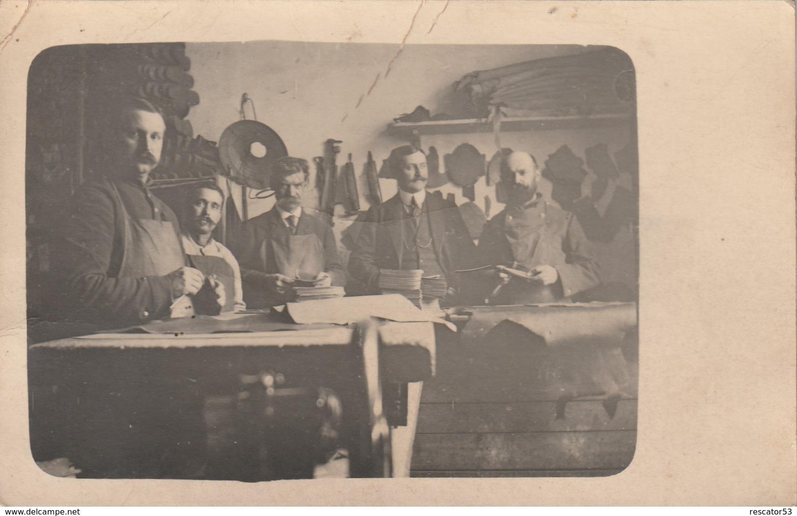 Très Rare Cpa-photo Atelier Cordonnerie à Montpellier 1915 - Montpellier