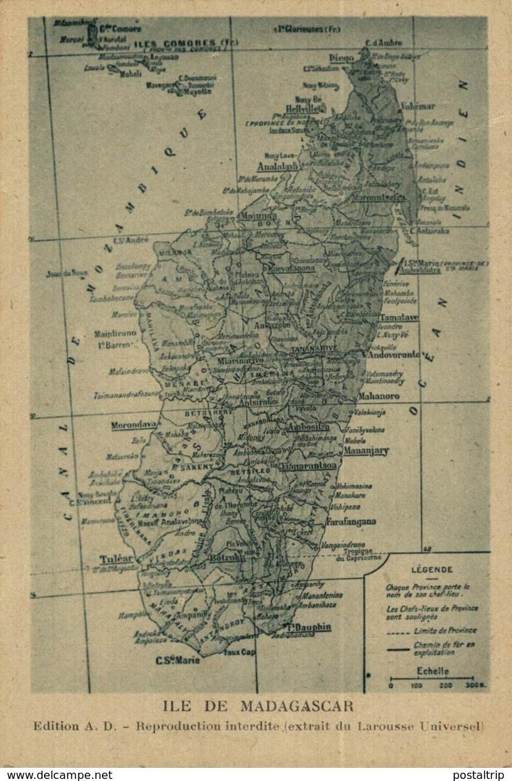 ILE DE MADAGASCAR - MAP // MAPA - Madagascar