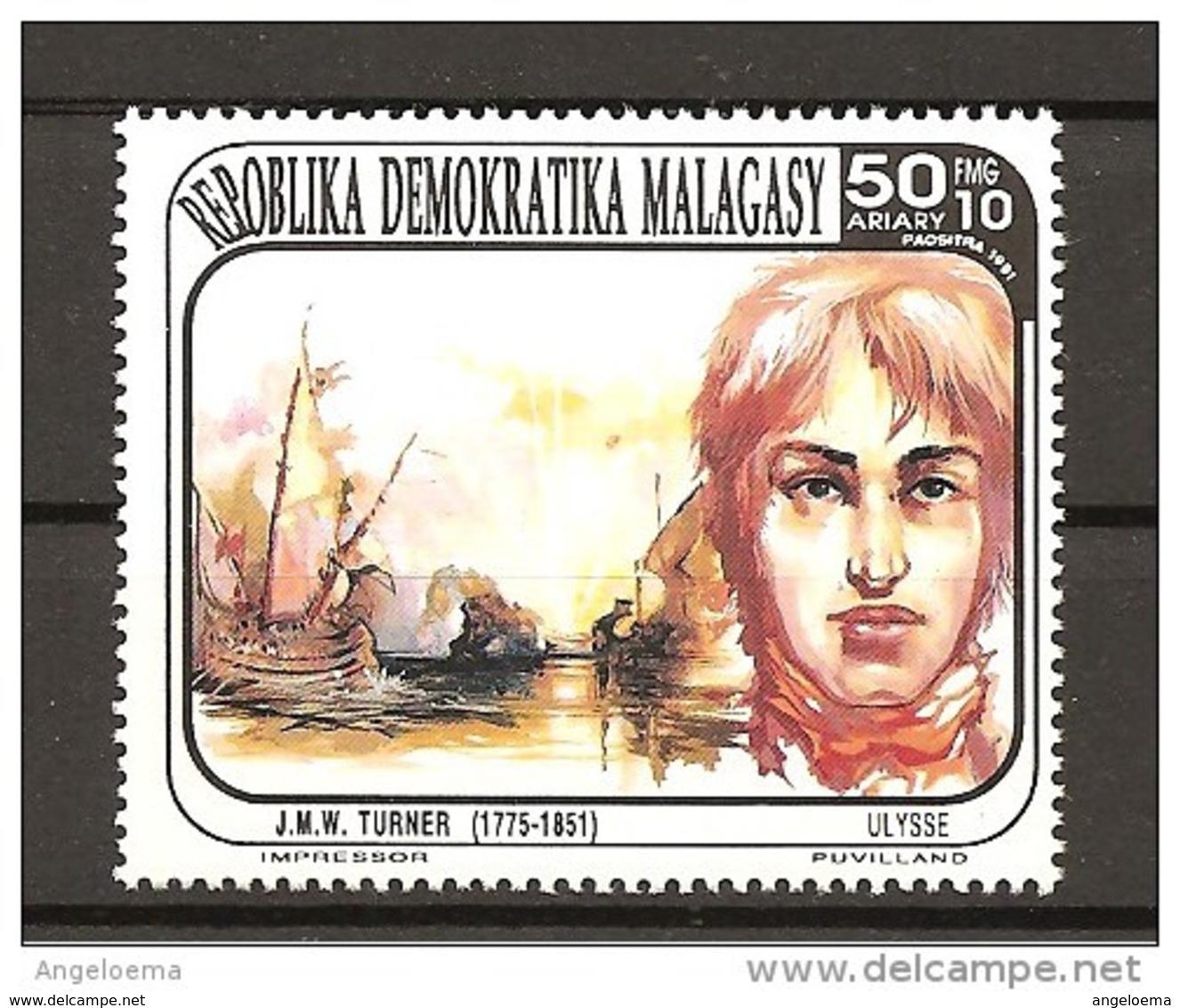 MADAGASCAR - 1991 J.M.W. TURNER Pittore Nuovo** MNH - Celebrità