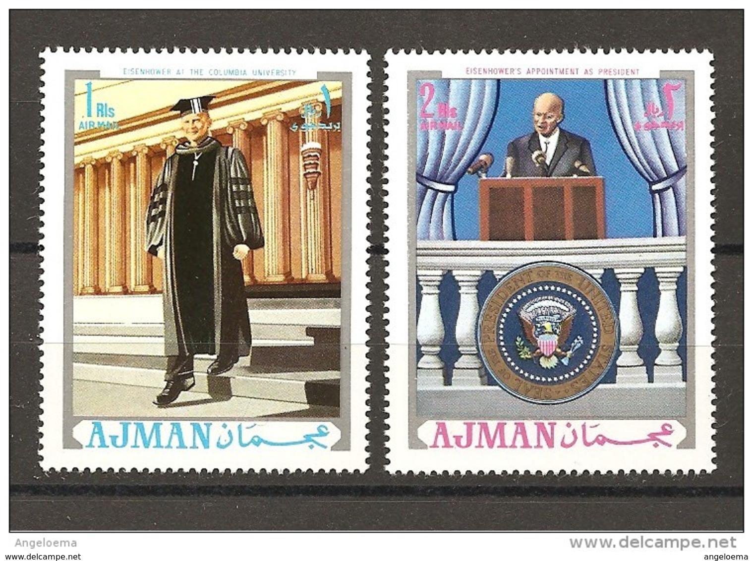 AJMAN - Presidente Americano EISENHOWER 2V. NuovI** MNH - Altri