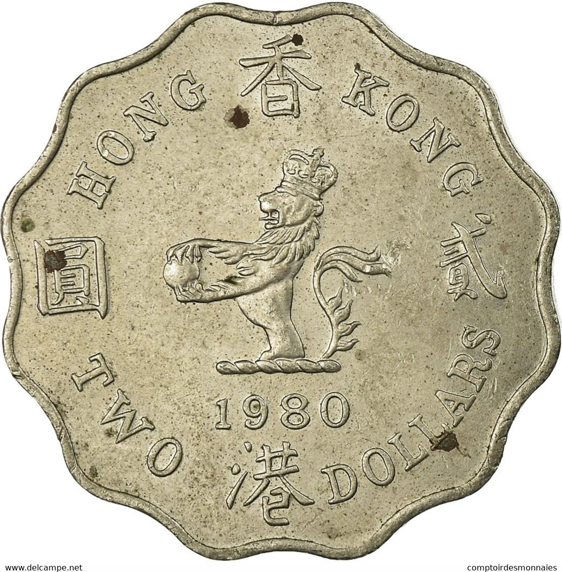 Monnaie, Hong Kong, Elizabeth II, 2 Dollars, 1980, TB+, Copper-nickel, KM:37 - Hong Kong