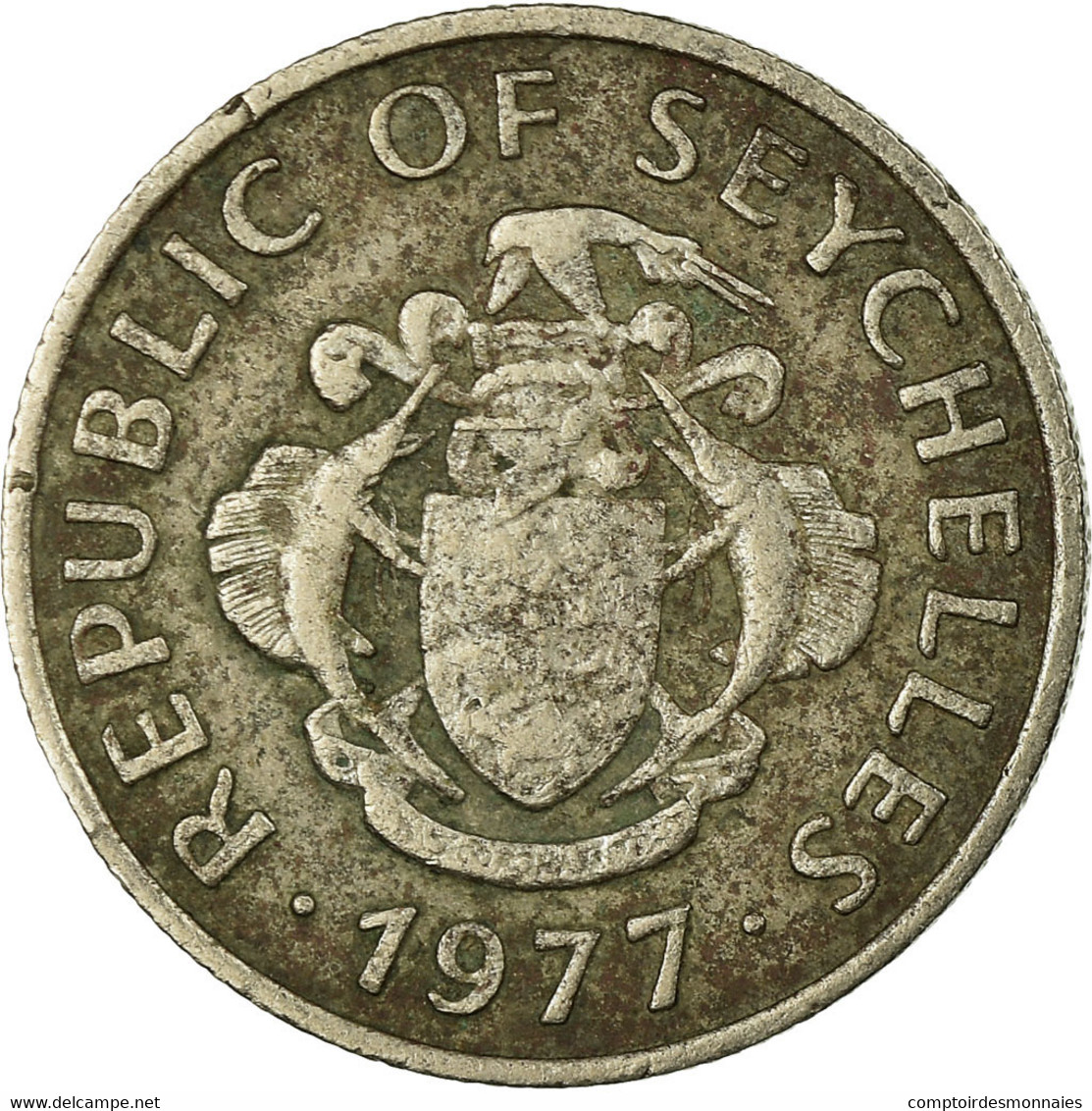 Monnaie, Seychelles, 25 Cents, 1977, British Royal Mint, TB, Copper-nickel - Seychelles