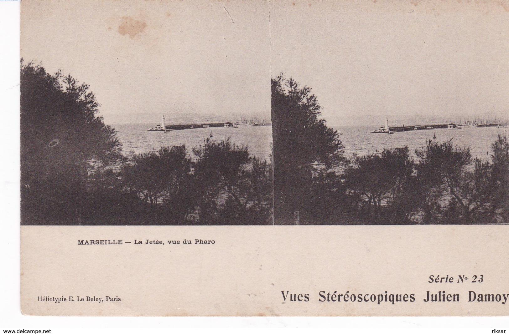 MARSEILLE(CARTE STEREO) - Stereoscopische Kaarten