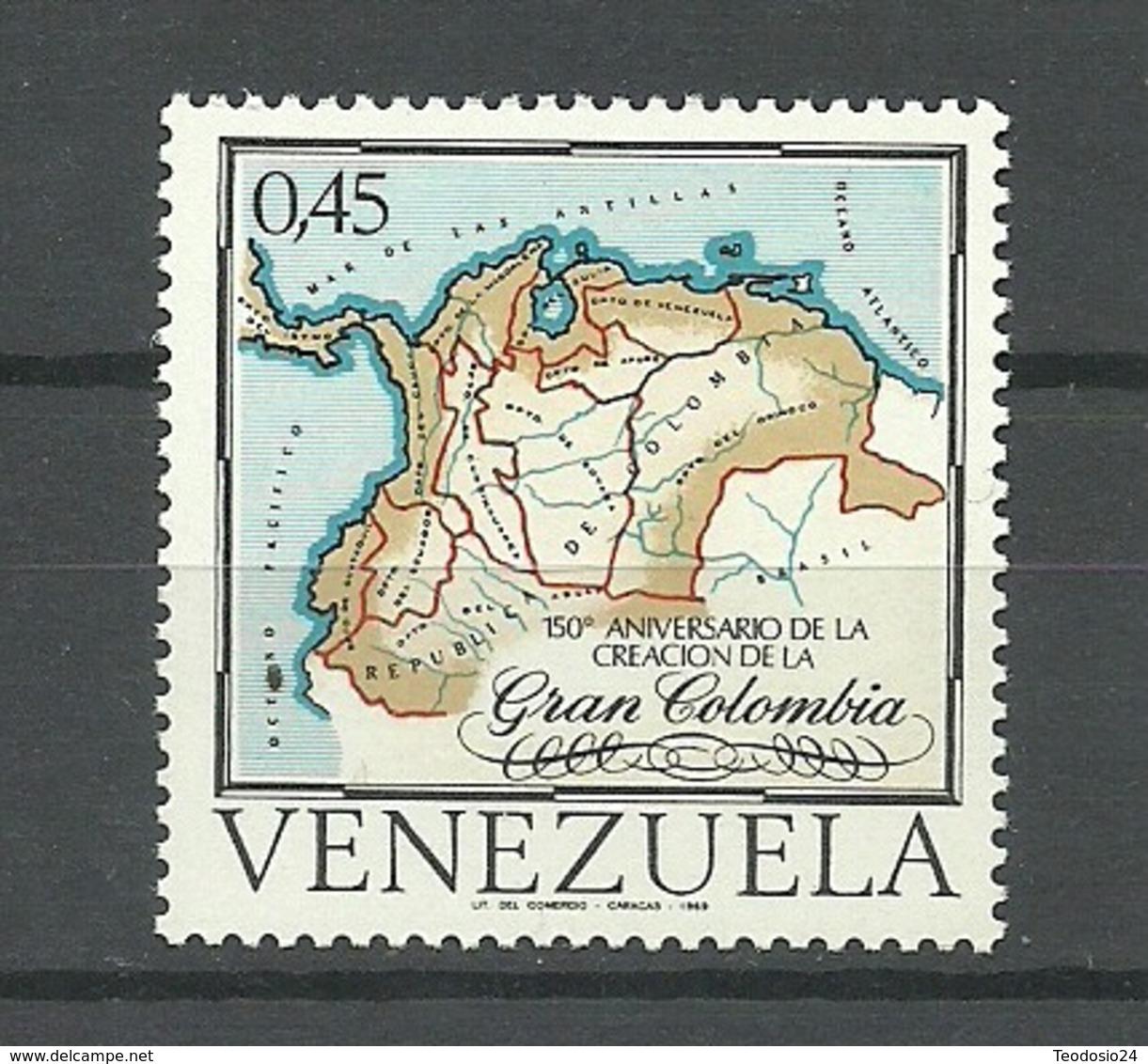 Venezuela   ** MNH 150 ANIVERSARIO DE LA CREACION DE LA GRAN COLOMBIA - Venezuela