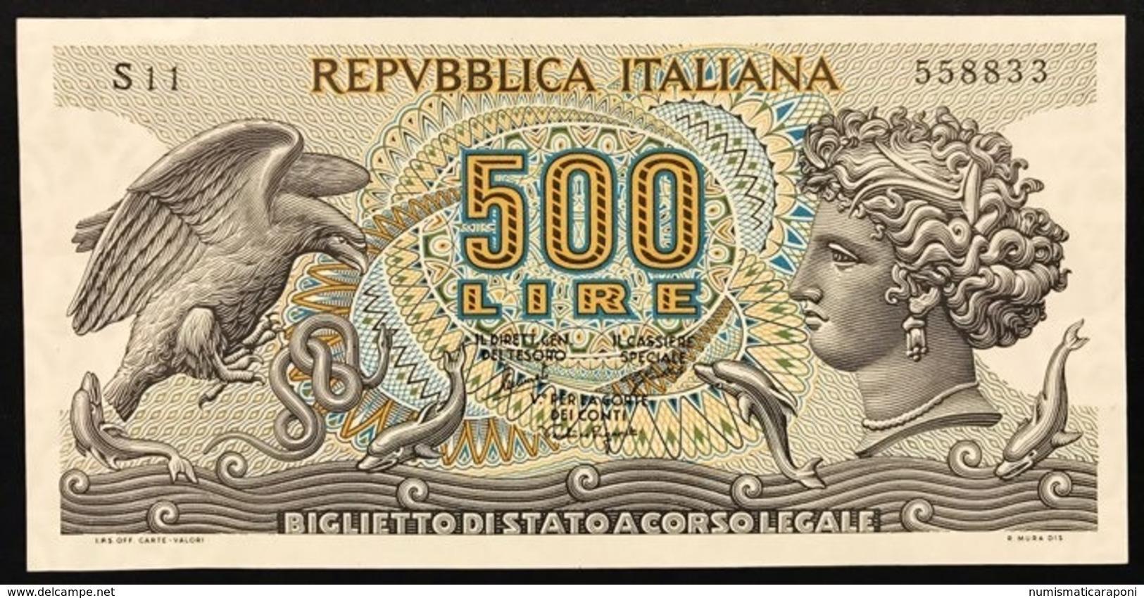 500 LIRE ARETUSA 20 06 1966 SUP S11 558833 LOTTO 496 - [ 2] 1946-… : Repubblica