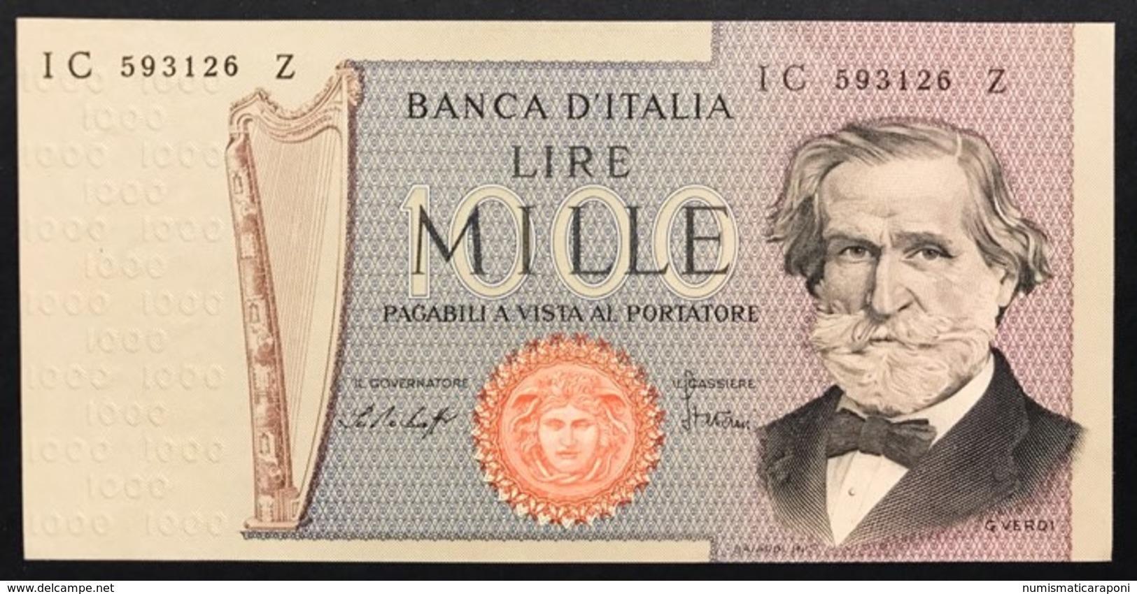 1000 LIRE Verdi II° Tipo 1977 Sup/fds  LOTTO 2737 - [ 2] 1946-… : Repubblica