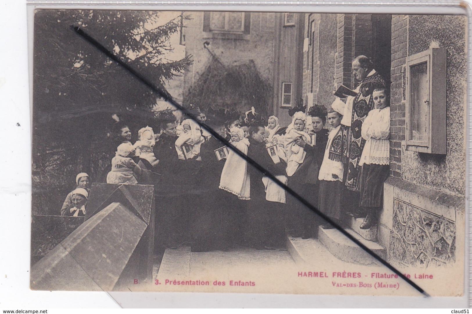 Val Des Bois (51) Harmel Frères - Filature De Laine ,Présentation Des Enfants (environs De Warmeriville.) - France