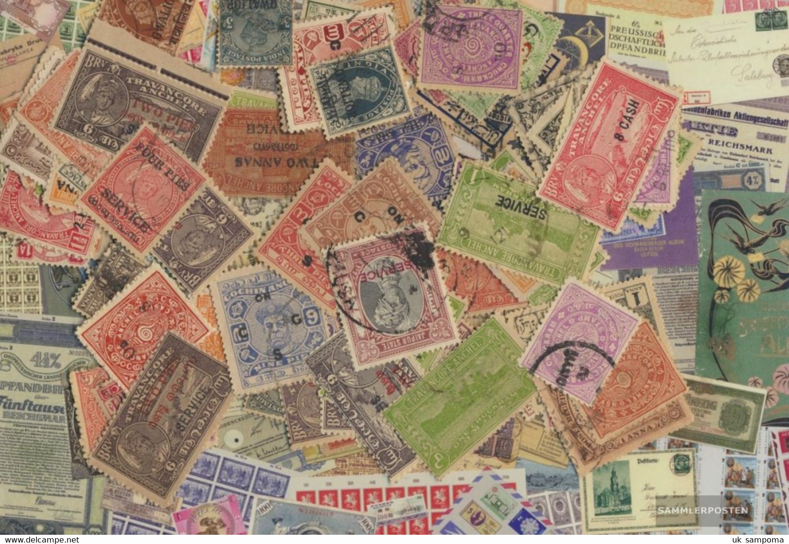 India Indian States Stamps-1.000 Different Stamps - India