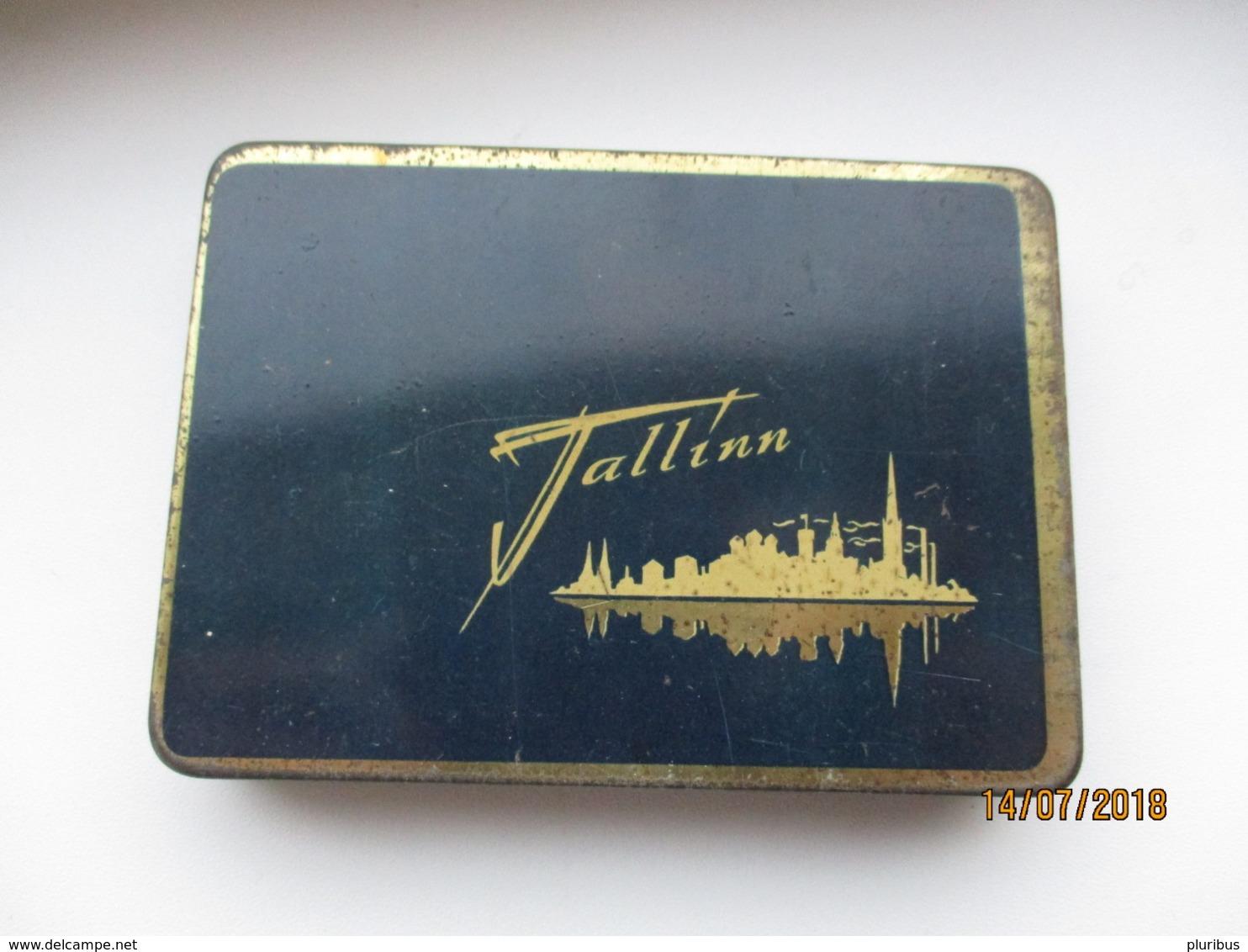 USSR RUSSIA ESTONIA TALLINN  , EMPTY TOBACCO TIN, 0 - Contenitori Di Tabacco (vuoti)