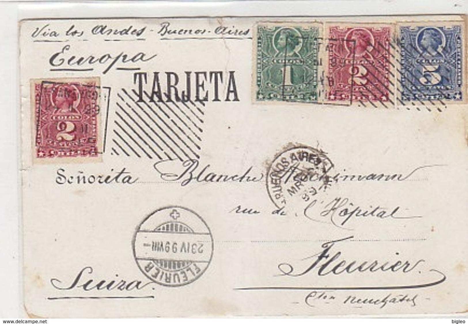 Recuerdo De Santiago - 1899        (A-117-190222) - Cile