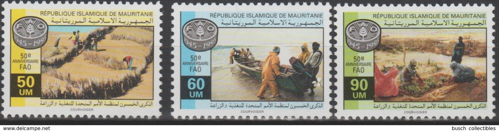 Mauritanie Mauretanien Mauritania 1995 Mi. 1029-1031 50e Anniversaire FAO 50th Anniversary Ernährung - Against Starve