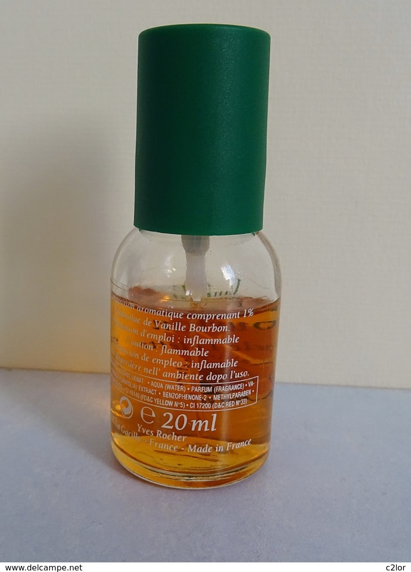 "Miniature "" VANILLE BOURBON"" D' Yves Rocher Eau De Toilette Spray 20 Ml Sans Boite - Moderne Miniaturen (ab 1961)"