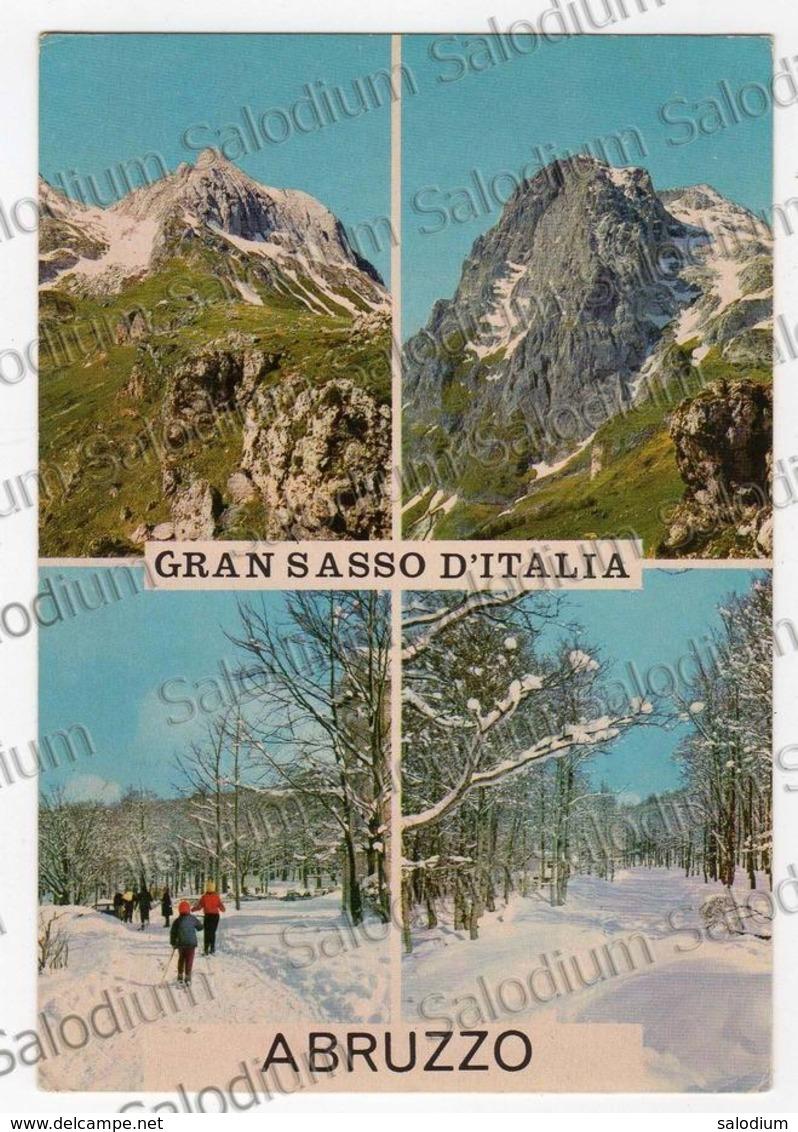 Abruzzo Gran Sasso D'italia Sport Sci Al Retro Timbro Seggiovia - Teramo Pietracamela - Teramo