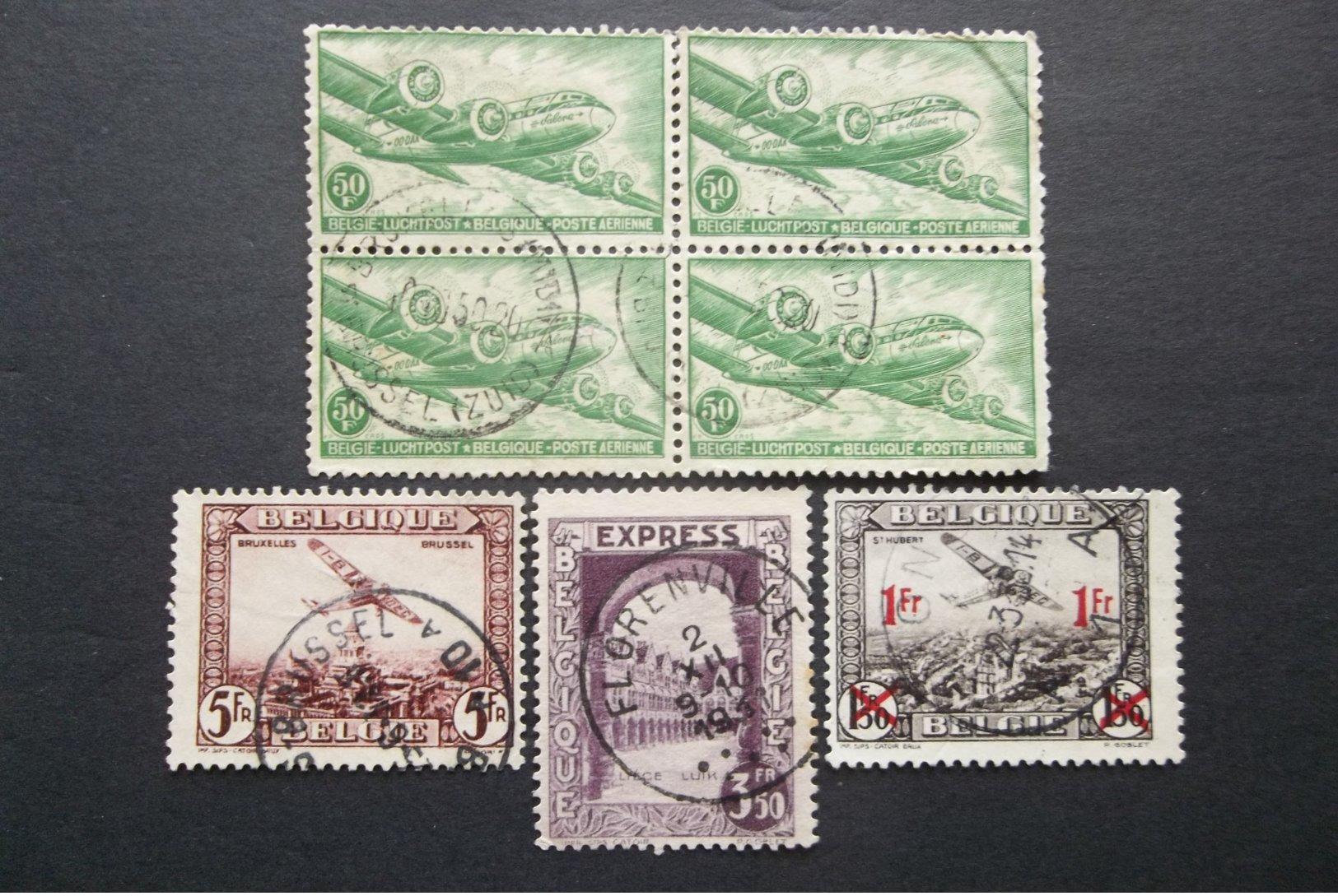 Belgique-Belgie: Various Stamps In Used (#GU7) - Unclassified