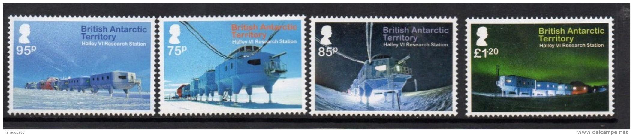2013 British Antarctic Territory Halley Station Complete Set Of 4 MNH - Britisches Antarktis-Territorium  (BAT)