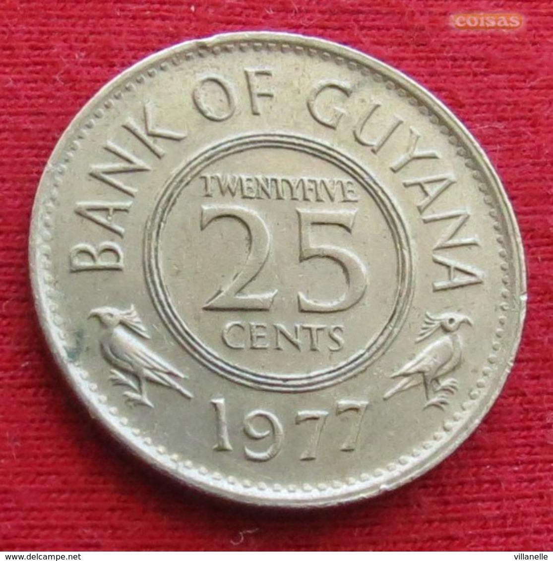 Guyana 25 Cents 1977 KM# 34 *V1 Guiana - Guyana