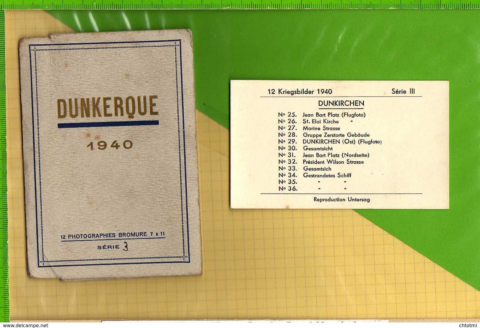 DUNKERQUE 12 Photographies Bromure 7X11 Liste En Scan - Dunkerque