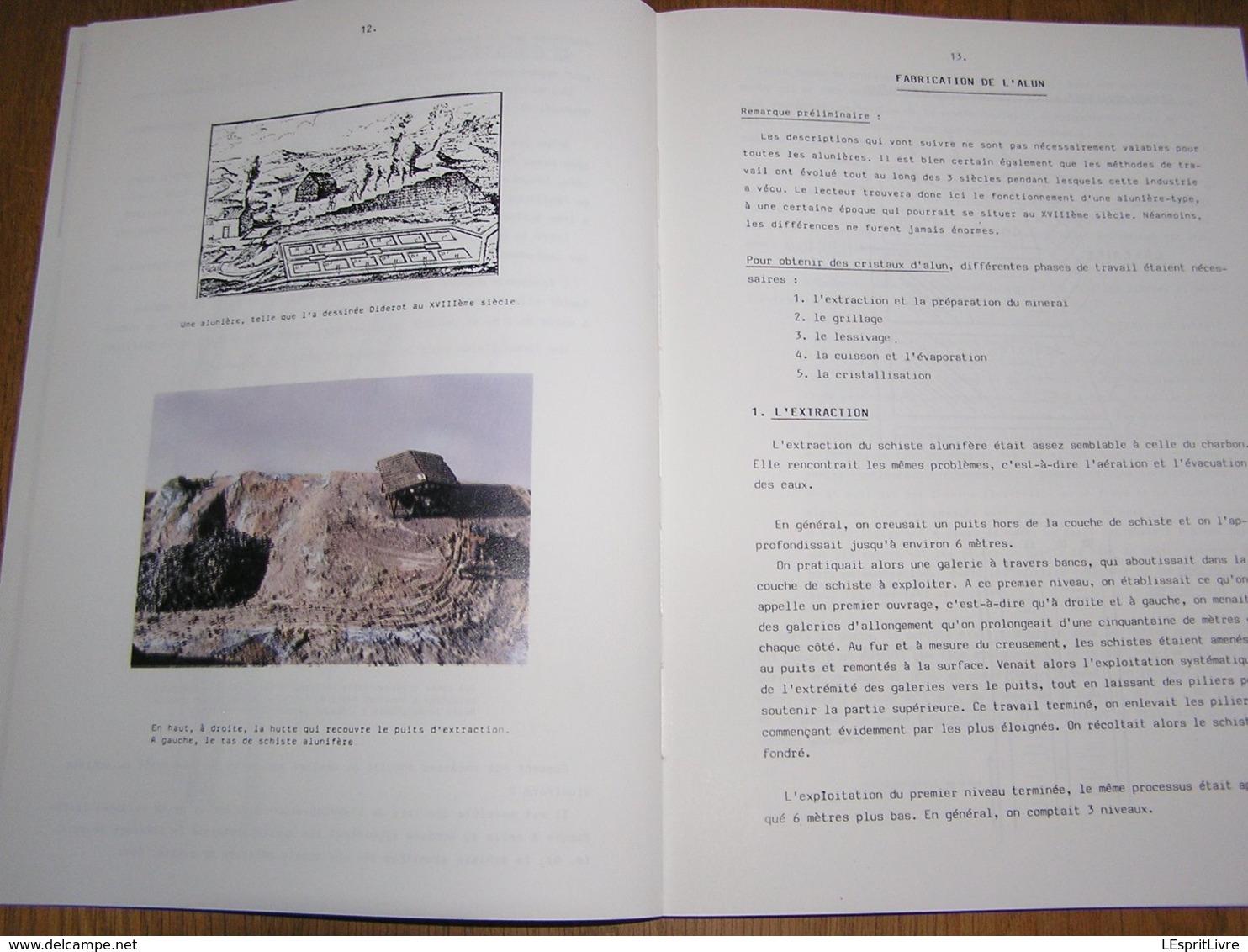 LES ALUNIERES à FLEMALLE ET DANS LA VALLEE DE LA MEUSE Régionalisme Industrie Extraction Pierre Alun Mine Puits Ampsin - Culture