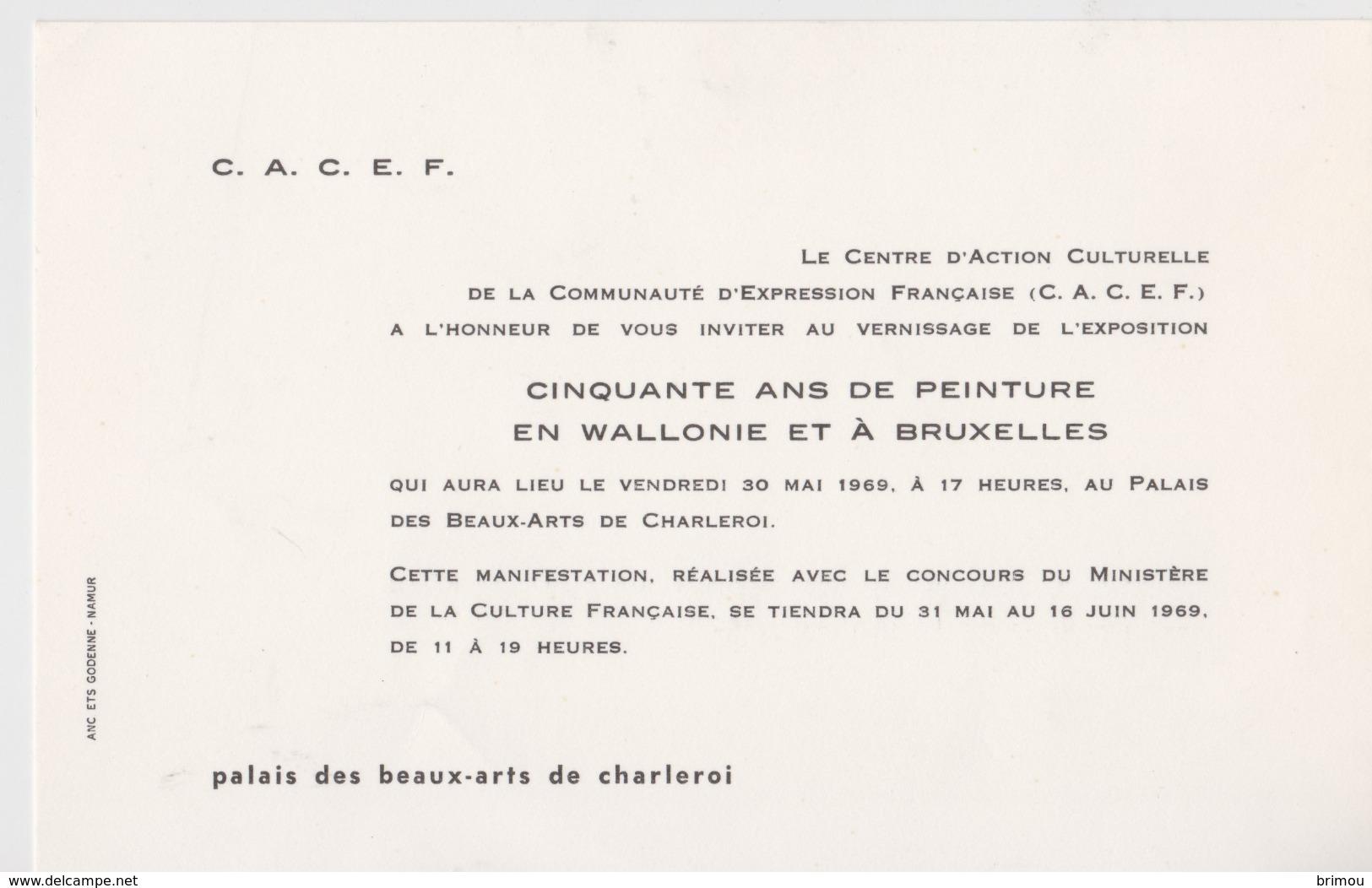 Charleroi, Invitation 1969. - Tickets - Vouchers